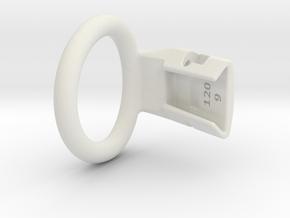 Q4e single ring M 38.2mm in White Premium Versatile Plastic