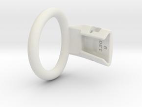 Q4e single ring M 41.4mm in White Premium Versatile Plastic