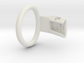 Q4e single ring XL 46.2mm in White Premium Versatile Plastic