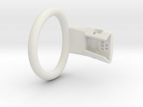 Q4e single ring XL 49.3mm in White Premium Versatile Plastic