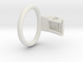 Q4e single ring L 50.9mm in White Premium Versatile Plastic