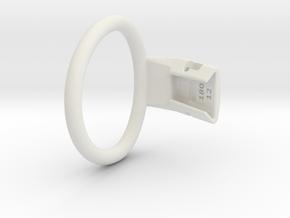 Q4e single ring L 57.3mm in White Premium Versatile Plastic