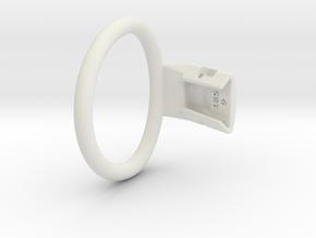 Q4e single ring M 58.9mm in White Premium Versatile Plastic