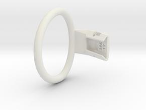 Q4e single ring L 62.1mm in White Premium Versatile Plastic