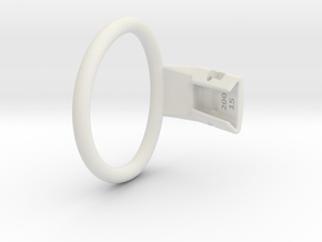 Q4e single ring XL 63.7mm in White Premium Versatile Plastic