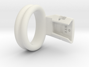 Q4e double ring 36.6mm in White Premium Versatile Plastic: Small
