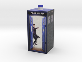 Matt Smith in Tardis made on Second Life full in Full Color Sandstone