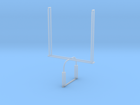 'N Scale' - Football Goalpost in Smooth Fine Detail Plastic