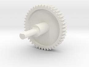 Nespresso capsule dispenser replacement gear in White Natural Versatile Plastic
