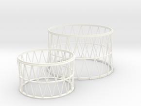 1:100 scale lattice work for Soviet N1  in White Processed Versatile Plastic
