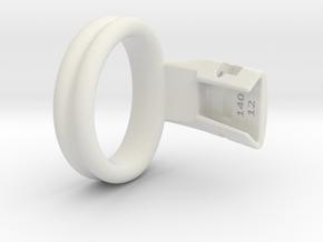 Q4e double ring L 44.6mm in White Premium Versatile Plastic