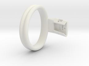 Q4e double ring M 62.1mm in White Premium Versatile Plastic