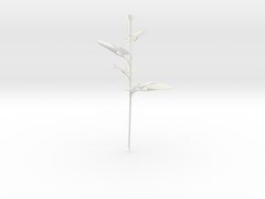 Rose Stem Leafs in White Natural Versatile Plastic