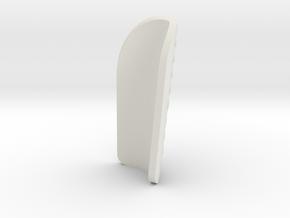 Honeycomb Shinpad in White Natural Versatile Plastic