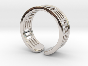 TripleBar ring in Rhodium Plated Brass