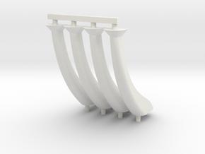 SYMA X5SW-1 Landing Gear/ Legs in White Natural Versatile Plastic