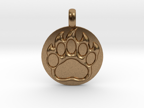 BEAR PAWN Animal Totem Jewelry pendant  in Natural Brass