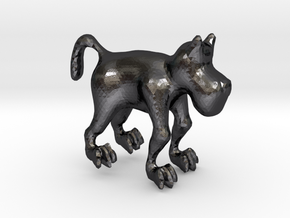 Dog in Polished and Bronzed Black Steel