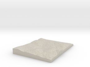 Model of Canaan Hill in Natural Sandstone