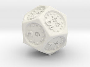 Ki-Tun Music Dice in White Natural Versatile Plastic