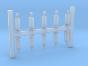1-48_Oxygen_Bottles_x10 in Smoothest Fine Detail Plastic
