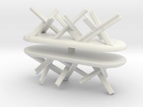 Tank Trap set (x2) 1/120 in White Natural Versatile Plastic