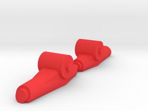 Finback Feet in Red Processed Versatile Plastic