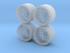 1/64 scale american force wheels in Smoothest Fine Detail Plastic