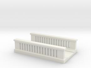 Concrete Bridge 1/100 in White Natural Versatile Plastic