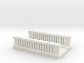 Concrete Bridge 1/100 in White Natural Versatile Plastic