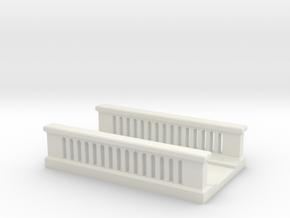 Concrete Bridge 1/72 in White Natural Versatile Plastic