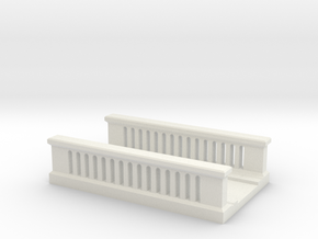 Concrete Bridge 1/120 in White Natural Versatile Plastic