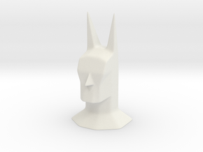 Batman head bust sculpture in White Natural Versatile Plastic