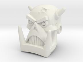 Death's Head for PotP Wreck-Gar (4mm socket) in White Natural Versatile Plastic