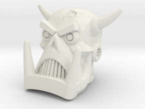 Death's Head - Multisize in White Natural Versatile Plastic: Large