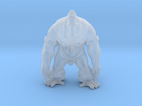 Yeti warrior DnD miniature games rpg dungeons in Smooth Fine Detail Plastic