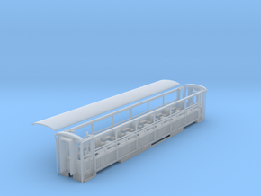 WHR semi 3rd class open coach NO.2020 in Smooth Fine Detail Plastic