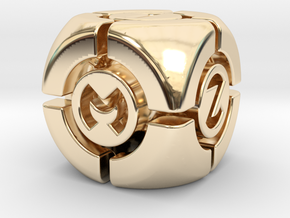 Techno D6 in 14K Yellow Gold