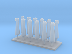 YV Station Smoke Stacks in Smoothest Fine Detail Plastic