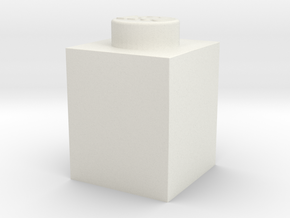 BRICK 1X1 in White Natural Versatile Plastic