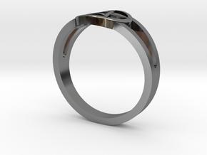 Pentagram Ring in Fine Detail Polished Silver