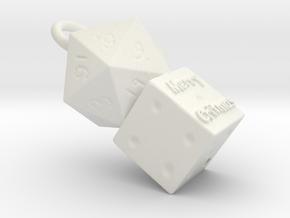 Merry Critmas Ornament in White Natural Versatile Plastic