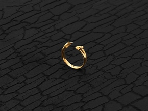 Chasing One's Own Tail (Gold) in 14K Yellow Gold: 6 / 51.5