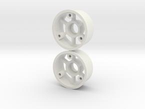 "2WD - ""No glue !"" - Ø19mm / +1 in White Natural Versatile Plastic"
