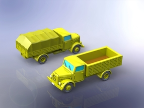 German KHD S3000 Trucks 1/200 in Smooth Fine Detail Plastic
