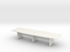 Modern Office Desk 1/24 in White Natural Versatile Plastic