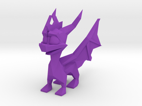 Spyro Low Poly Wings A in Purple Processed Versatile Plastic