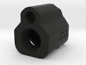 G-Comp Type 4 Airsoft Flashhider (14mm-) in Black Natural Versatile Plastic