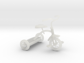 Tricycle in Smooth Fine Detail Plastic