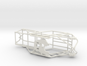 SXC24 Fat Girl Chassis and Motor Plate in White Natural Versatile Plastic